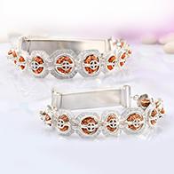 Indrakshi bracelet in silver-JS-Design III