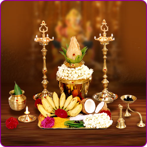 What is the role of puja items in Vedic rituals?