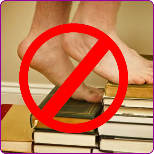 Why do we not touch papers books and people with the feet