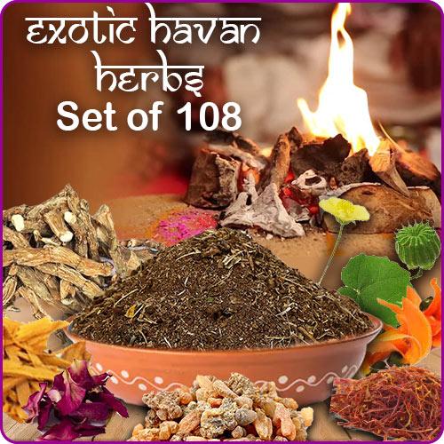 Exotic Havan Herbs Set of 108