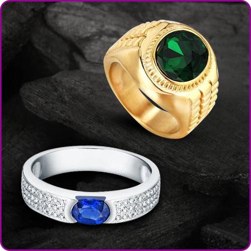 Gem Ring Making Option in Gold-Silver Men