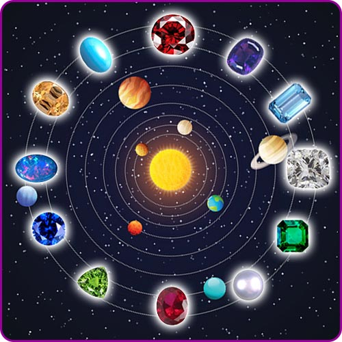 Gems in relation to Planets and Gods