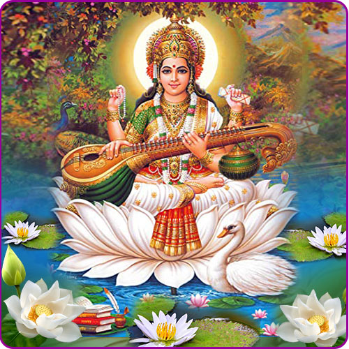 Goddess Saraswati: Favorite Fruits and Flowers