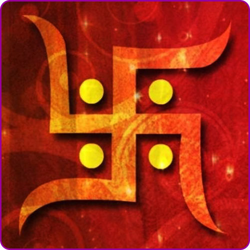 Swastika - An auspicious symbol signifying Good Luck, Well Being & Purity