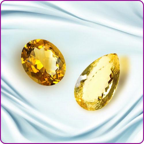 Yellow Citrine Gemstones