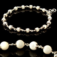 White Coral Gemstone Bracelet