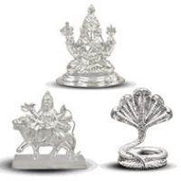 Silver Idols of Gods and Goddesses