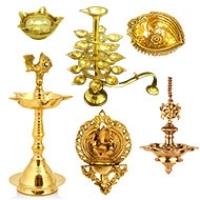 Brass Diya, Oil Lamp, Samai