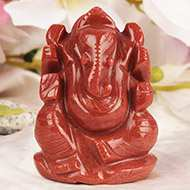 Ganesha (Red Jade)