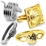 Mantra and God  silver Rings