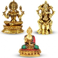 Brass God and Goddess Statues