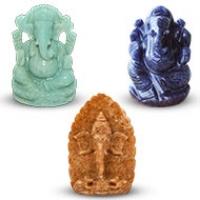 Ganesha Gemstone Idols