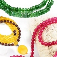 Natural Gemstone Necklaces (Mala)