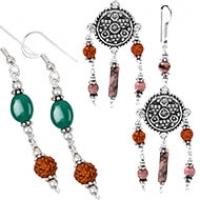 Opal and Agate Earrings