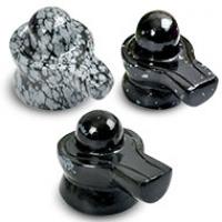 Snowflakes Obsidian Linga