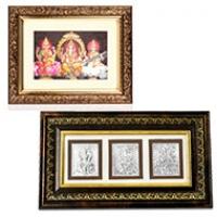 Laxmi Ganesh Saraswati Photo Frame