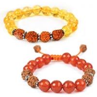 Rudraksha Gemstone Bracelets