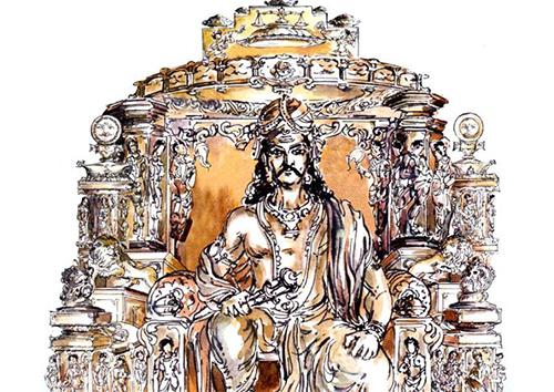 King Vikramaditya's coronation
