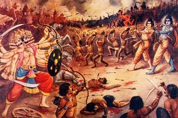 battle begins between ram and ravan