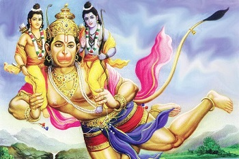 Hanuman takes a giant leap to help Rama rescue Sita from Ravana