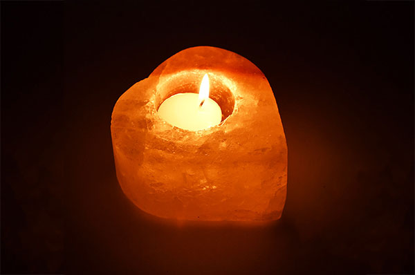 Himalayan Rock Salt Candle Lamp - Heart Shape