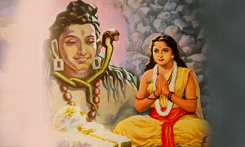Parvati Worshiping Shiva on Mahashivratri