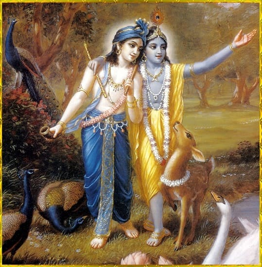 Lord Krishna along with His brother Balrama