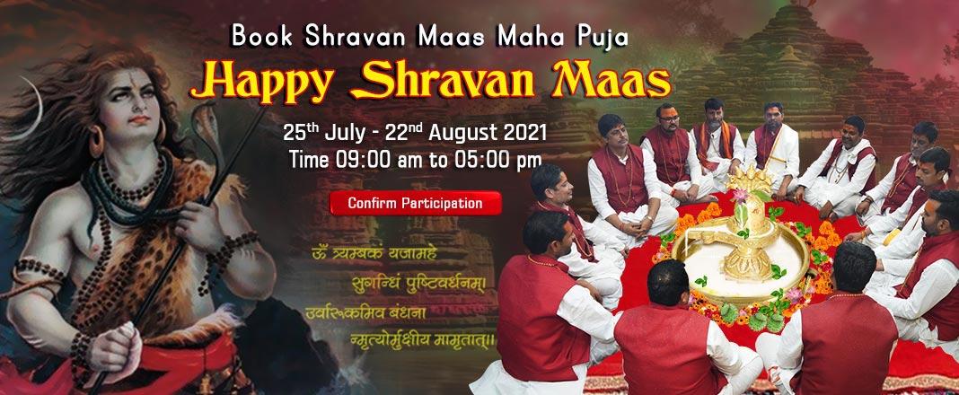 Shravan Maas Maha Puja - 2nd, 9th and 16th August, 2021