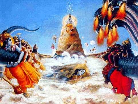 Samudra Manthan Full Story From Vishnu Purana, Churning of Milk ...