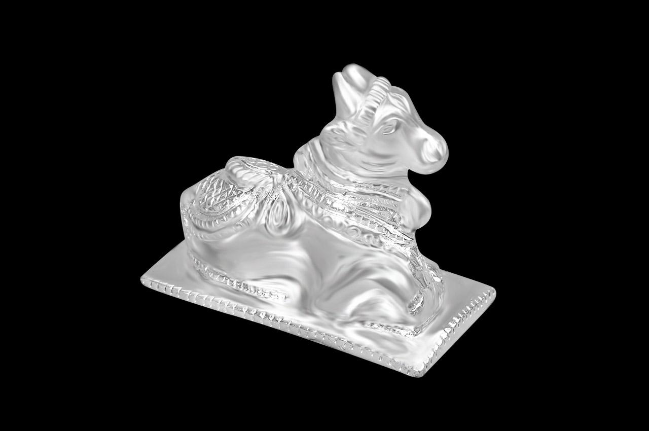 Nandi in Pure Silver - III
