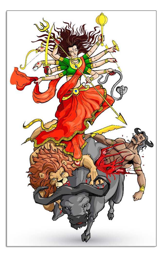 Durga Bisa Yantra - Bestows wealth and property, Durgabisa Yantras