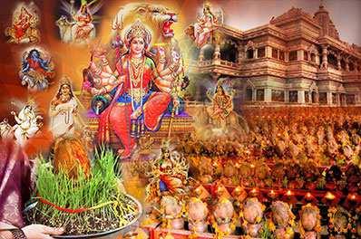Navratri Ghatsthapana at Durga Mata Temple with Akhand Jyot