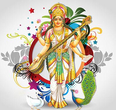Goddess Saraswati: Favorite Fruits and Flowers