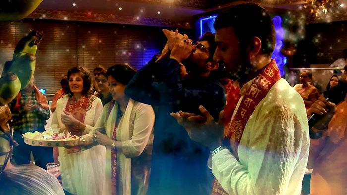 Aarti on Mahashivratri at Rudra Centre
