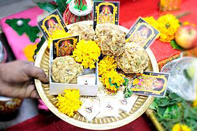 Puja Prasad from Temples