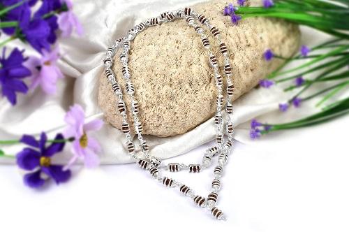 Shivnetra mala in Silver- tiny beads