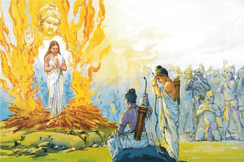 Rama asks Sitar to undergo agni-pariksha the test to prove Her chastity