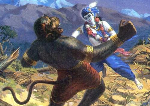 Shree Krishna's defeat of Narakasur