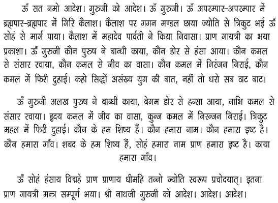 Prangayatri Mantra in Hindi - Rudraksha Ratna