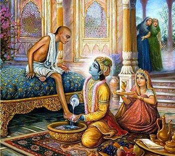 Sudama meeting Krishna