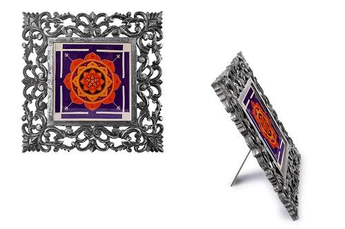 Mahamrityunjay Yantra on silk with frame