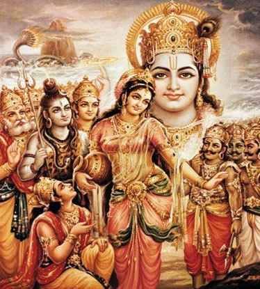 Lord Vishnu's Mohini Form and Story of Rahu Ketu