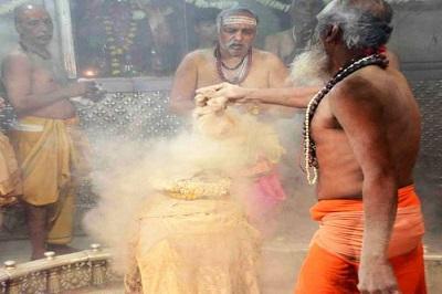 Bhasma On Shivaling