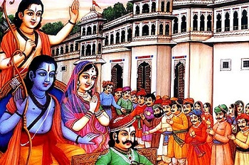 When Lord Ram leaves for the forest from ayodhya