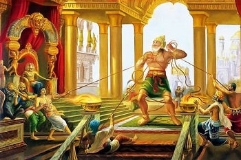 Hanuman wants to check strength of Ravana's men At Lanka