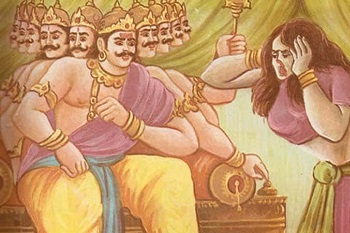 Surpanakha describes to her brother Ravana the unmatched beauty of Lord Ram's Wife Sita