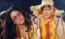 Devanand and Zeenat Aman