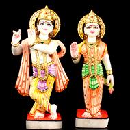 Radha Krishna marble idols