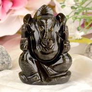 Obsidian Ganesha - 69 gms