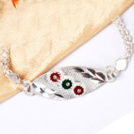 Pure silver Rakhi - Design XVI